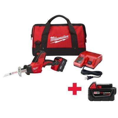 M18 18-Volt Lithium-Ion Hackzall Cordless Reciprocating Saw Kit W/ Free M18 5.0Ah Battery