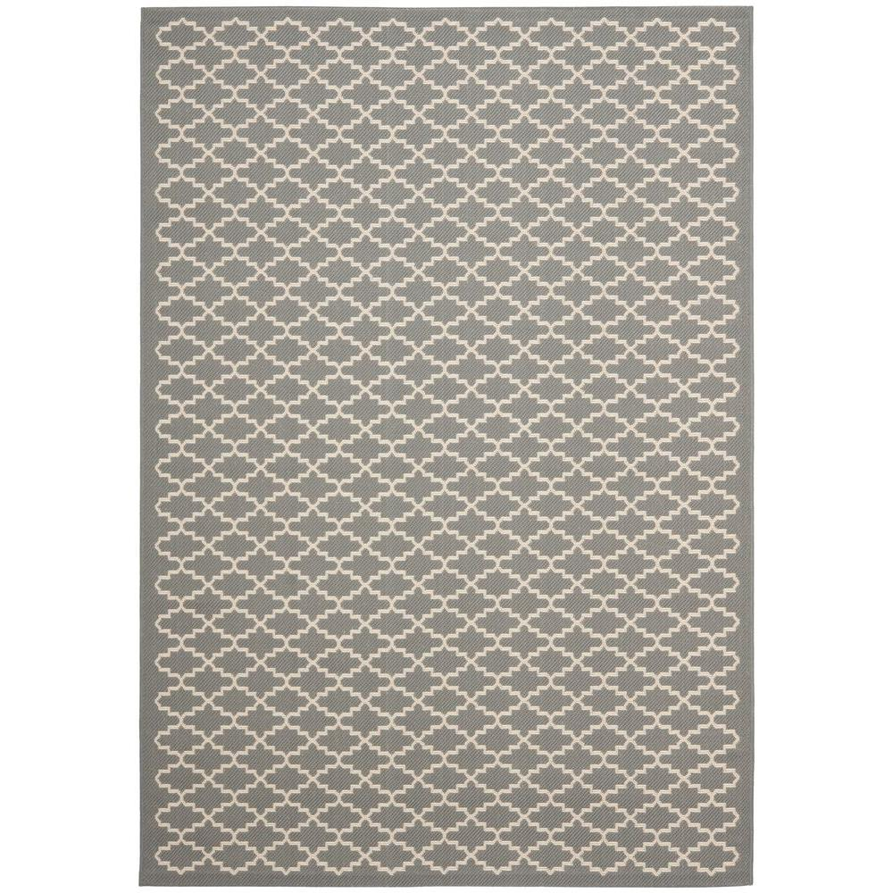 Safavieh Courtyard Anthracite/Beige 5 ft. 3 in. x 7 ft. 7 in. Indoor/Outdoor Area Rug