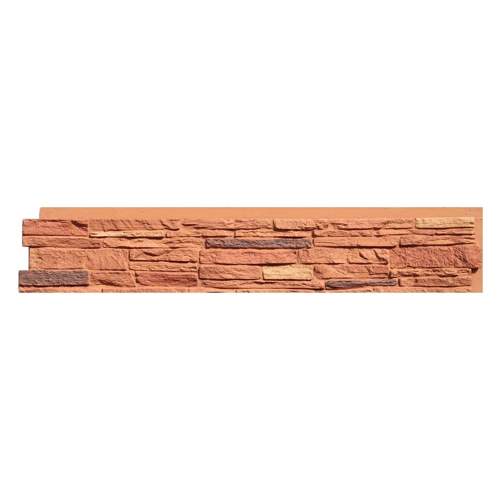 Slatestone Arizona Red 8.25 in. x 43 in. Faux Stone Siding