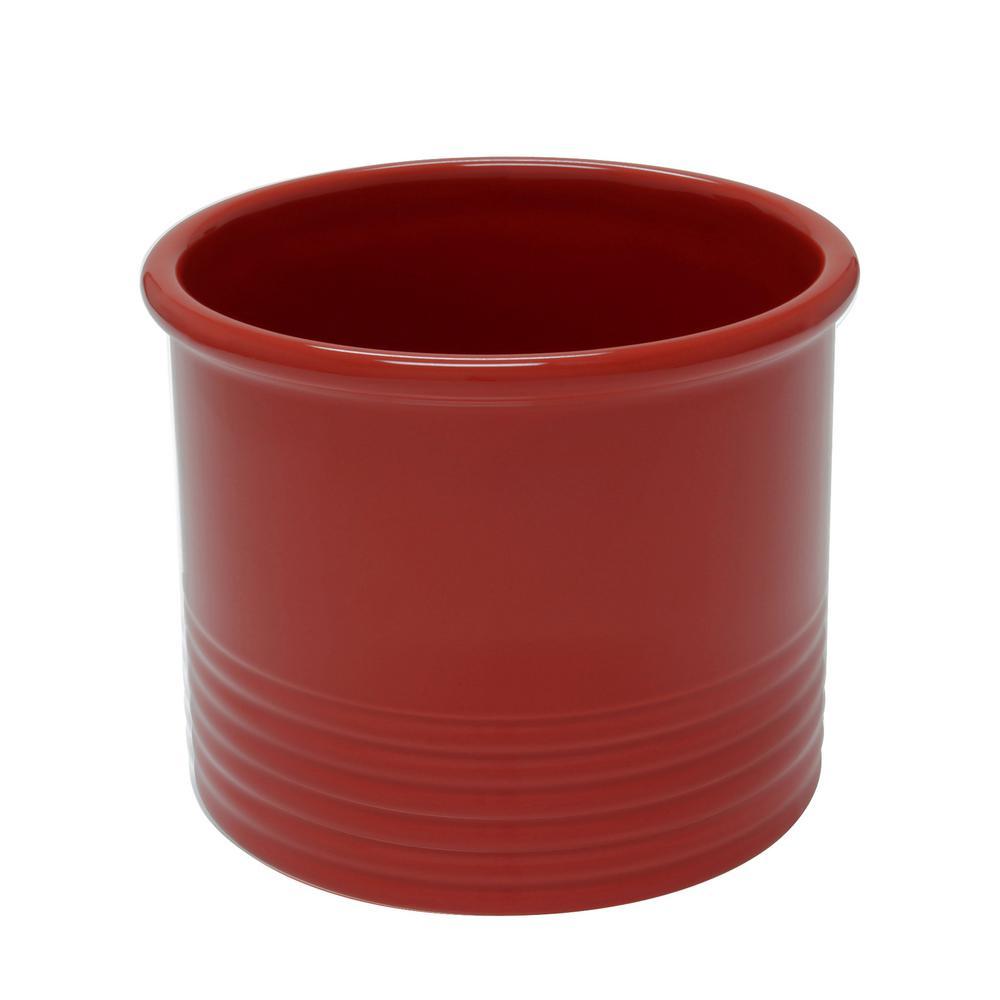 Cinnabar Large Ceramic Utensil Crock