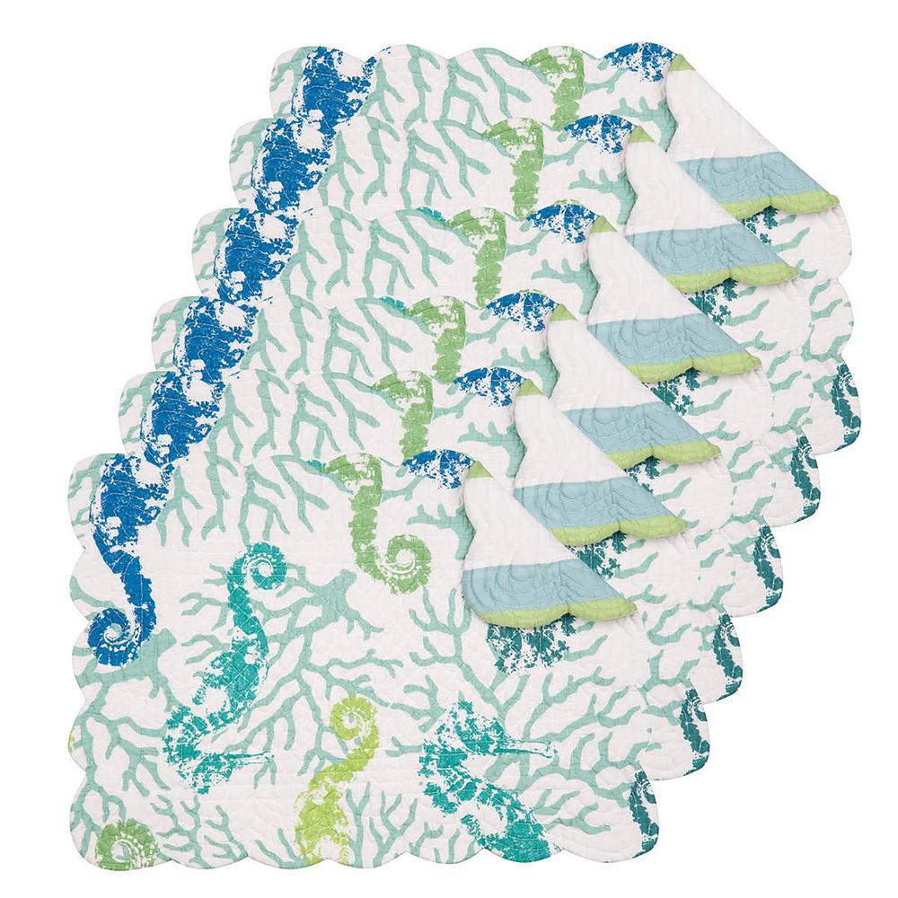 Aquarius Green Placemat (Set of 6)