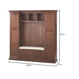 Home Decorators Collection Royce Smoky Brown 79 3 In Hall Tree