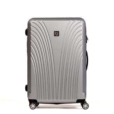 Urban Grid 29 in. Silver Expandable Spinner Rolling Luggage Suitcase