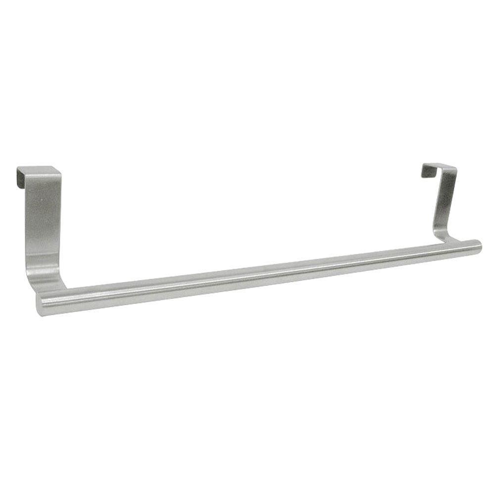 Over The Cabinet Towel Bar In Brushed Stainless Steel