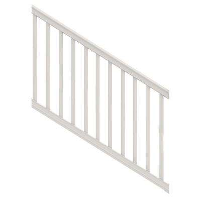 Premier 6 ft. x 40 in. White Vinyl Stair Rail Kit with Square Balusters