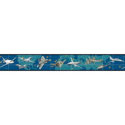 Growing Up Kids Leaving On A Jet Plane Removable Wallpaper Border