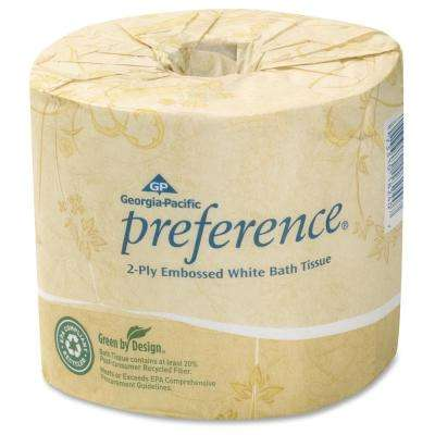 Preference White Embossed Bathroom Tissue 2-Ply (40 Roll)