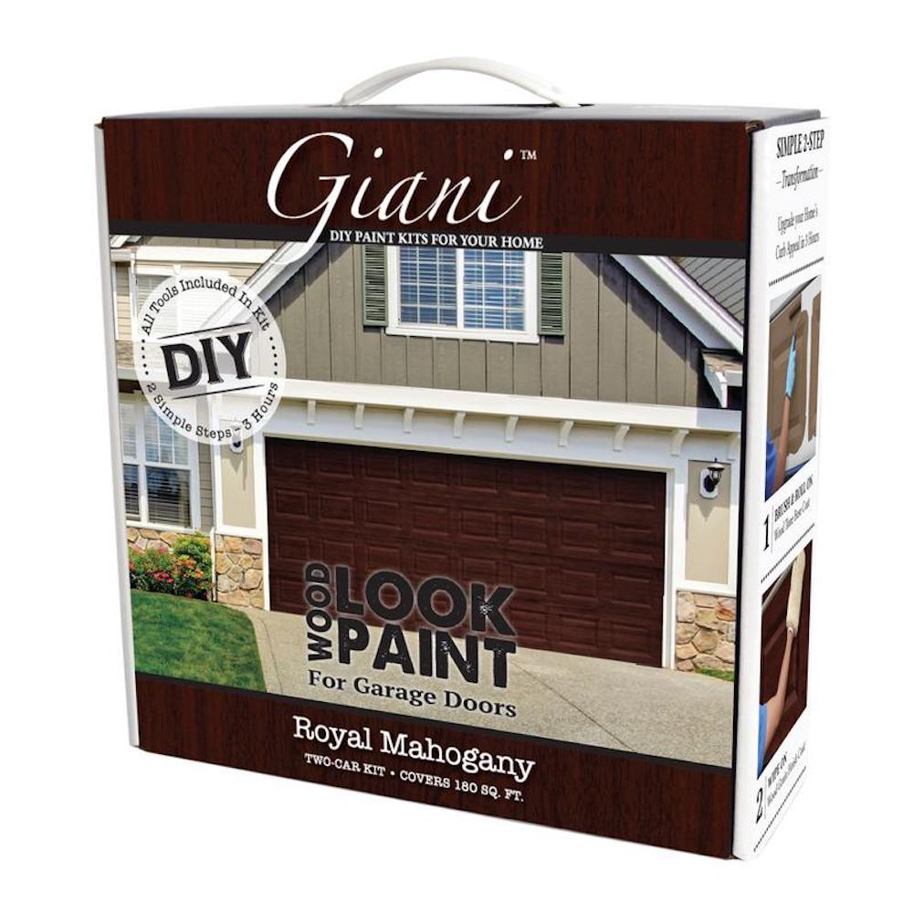 Wood Look Paint Royal Mahogany 2 Car Garage Kit Fg Wl Mah