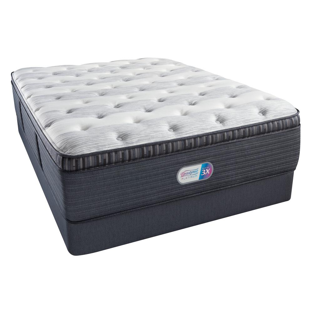 Beautyrest Platinum Haven Pines Luxury Firm Pillow Top Cal King Mattress Set