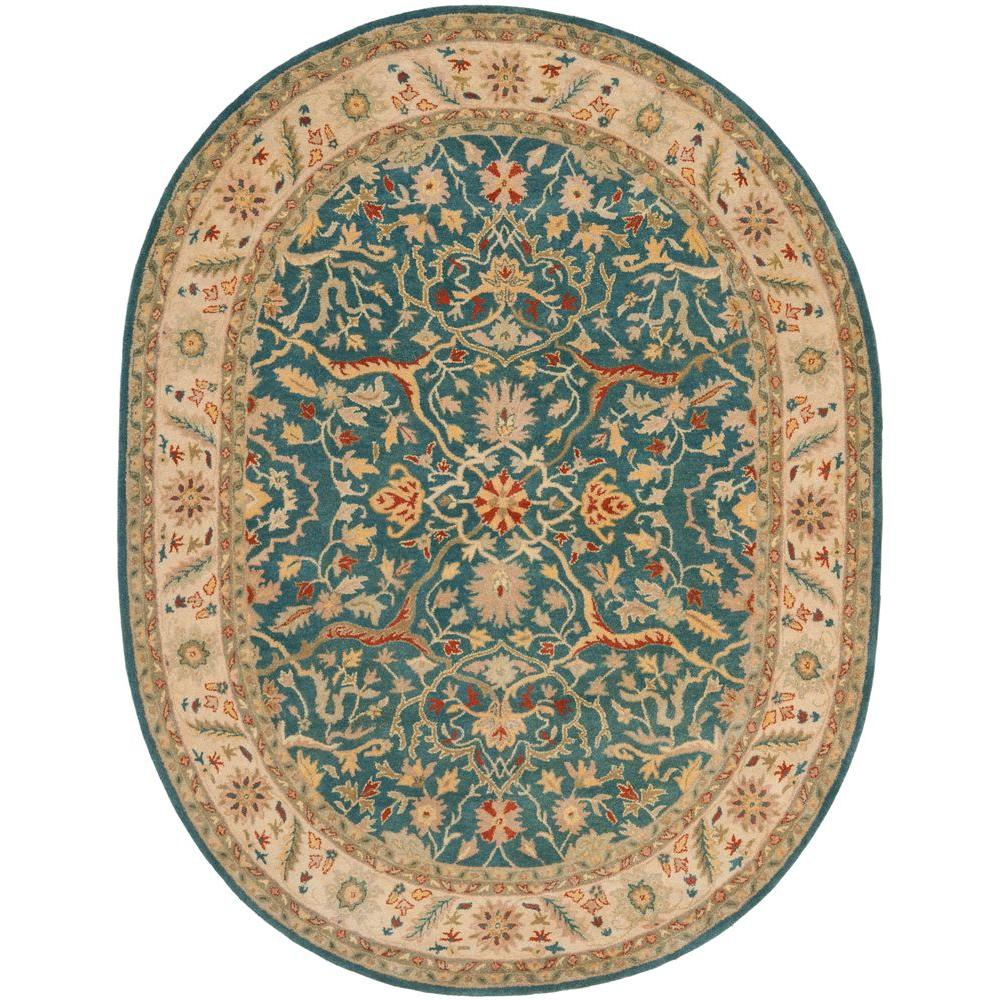 Safavieh Antiquity Blue 7 Ft. 6 In. X 9 Ft. 6 In. Oval