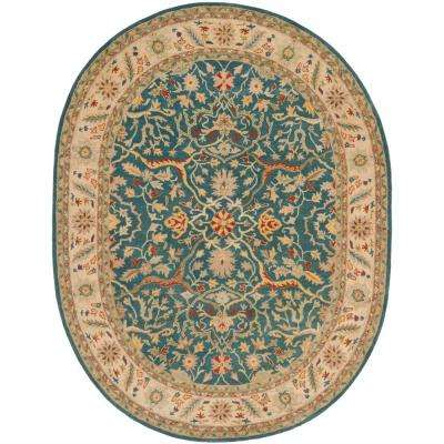 Antiquity Blue 7 ft. 6 in. x 9 ft. 6 in. Oval Area Rug
