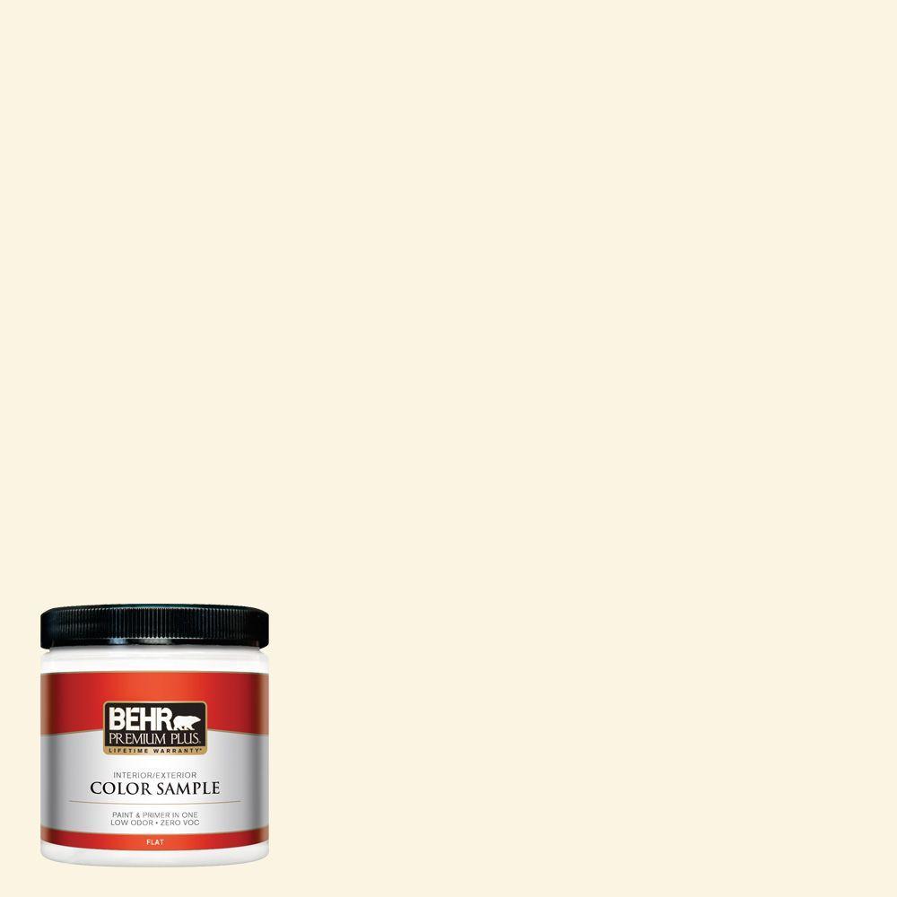 8 oz. #350E-1 Moonlight White Zero VOC Interior/Exterior Paint Sample