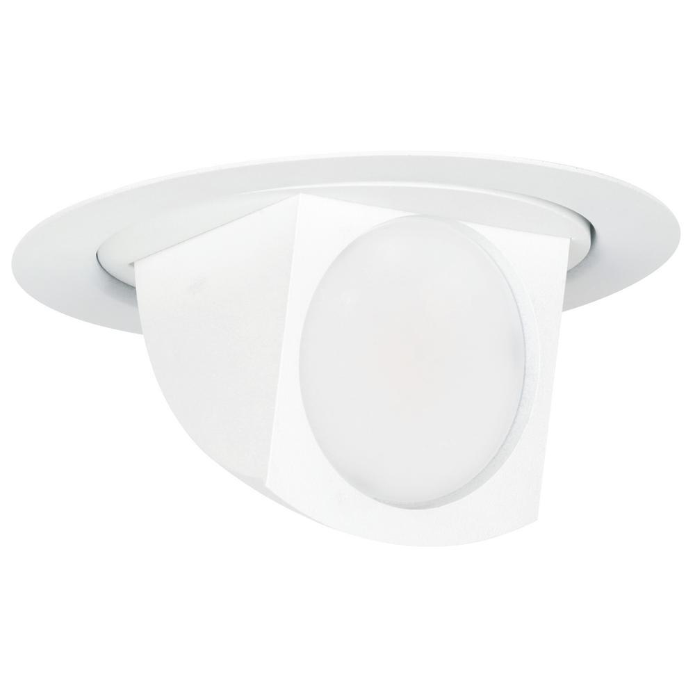 Feit Electric 4 in. 65-Watt Equivalent Bright White (3000K) Title 24 White Integrated LED Recessed Retrofit Trim Flood Light