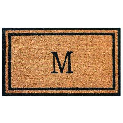 Customized Monogram Collection Letter M 18 in. x 30 in. Personalized Coir with Rubber Backing Outdoor Welcome Door Mat