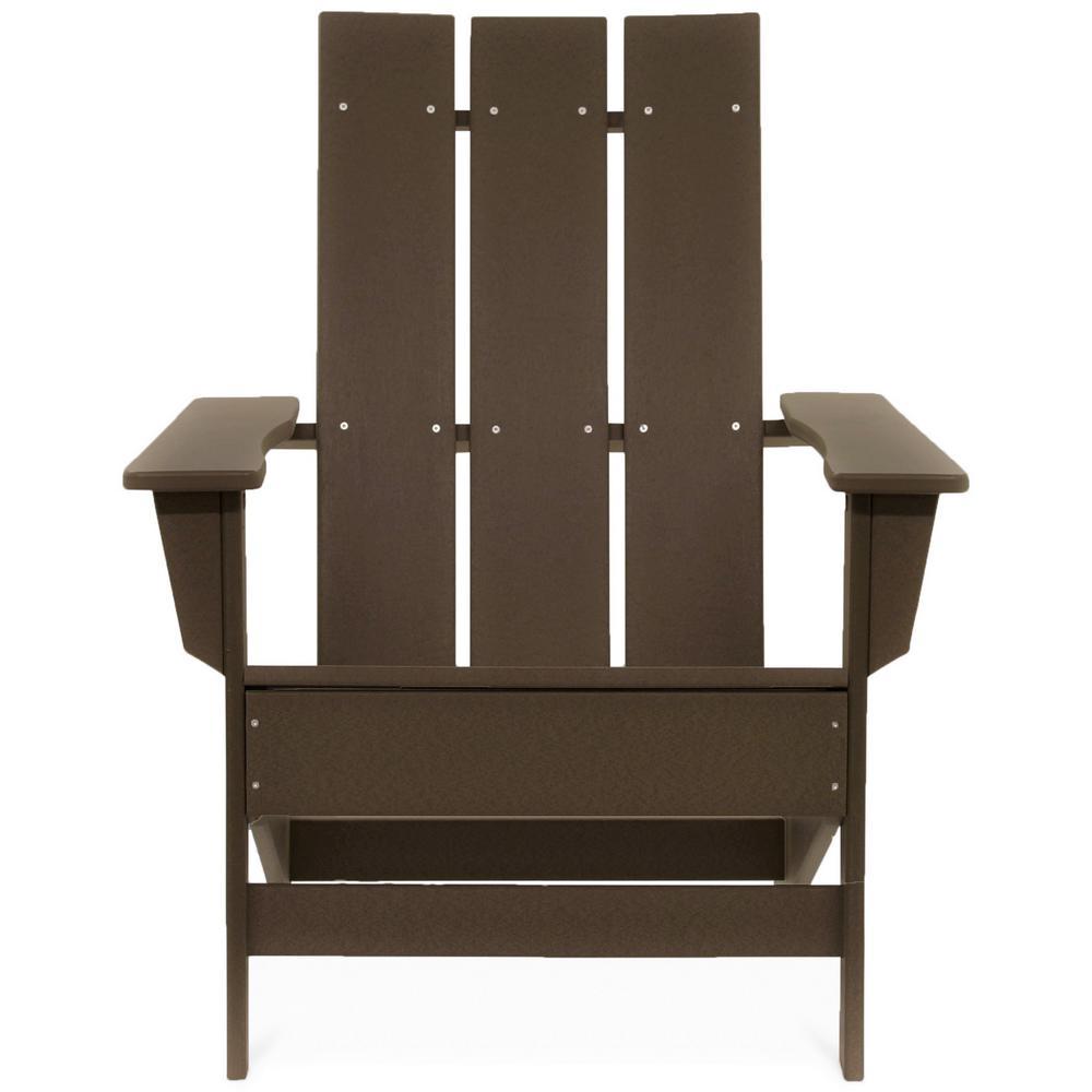 Aria Chocolate Recycled Plastic Adirondack Chair