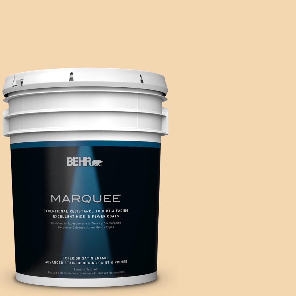 BEHR MARQUEE 5-gal. #M270-3 Cream Custard Satin Enamel Exterior Paint