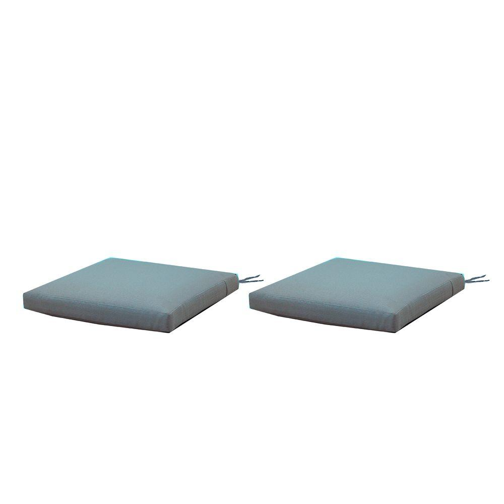 Martha Stewart Living Charlottetown Washed Blue Replacement Outdoor Rocking  Chair Cushion (2 Pack)