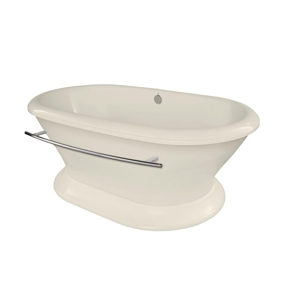 Hydro Systems Augusta 5.8 ft. Acrylic Center Drain Freestanding Air Bath Tub in Biscuit