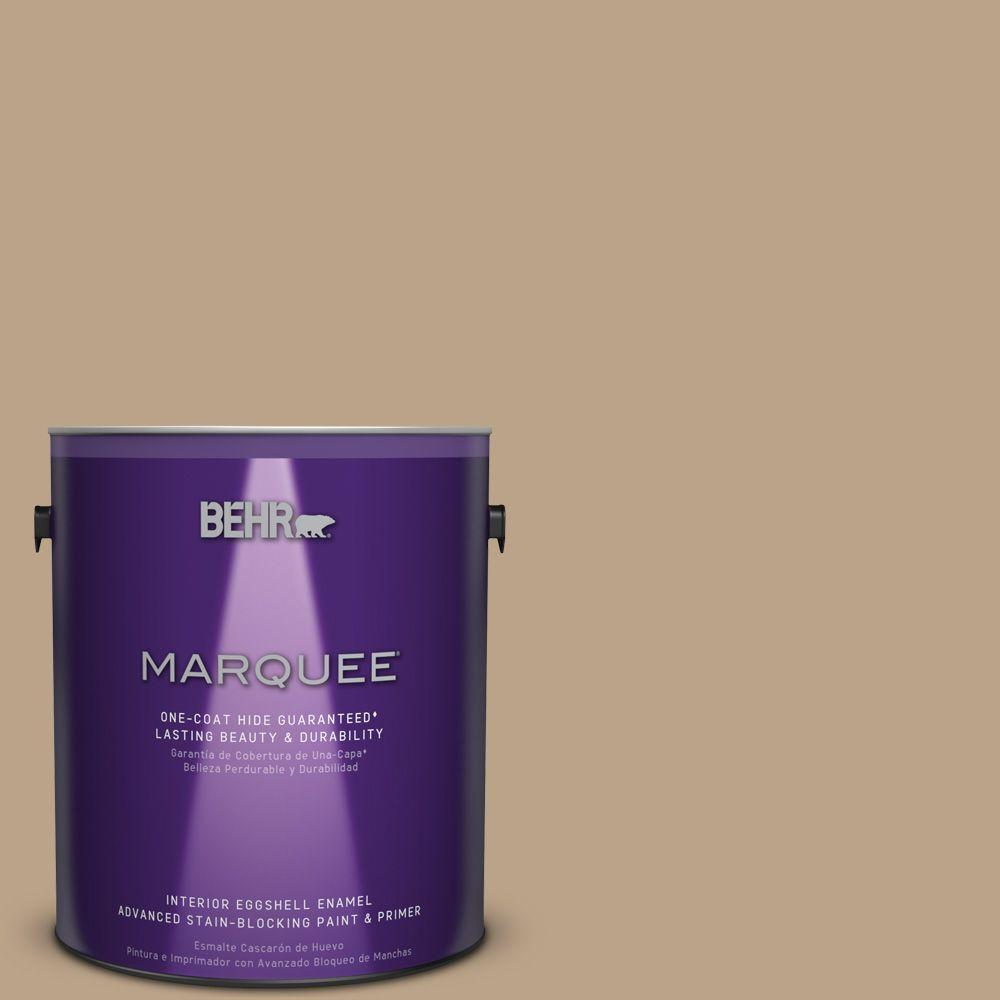 1 gal. #710D-4 Harvest Brown One-Coat Hide Eggshell Enamel Interior Paint