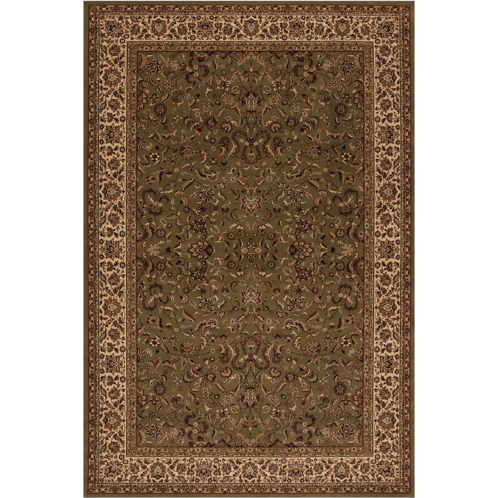 Concord Global Trading Persian Classics Kashan Green 2 ft. x 3 ft. 3 in. Accent Rug