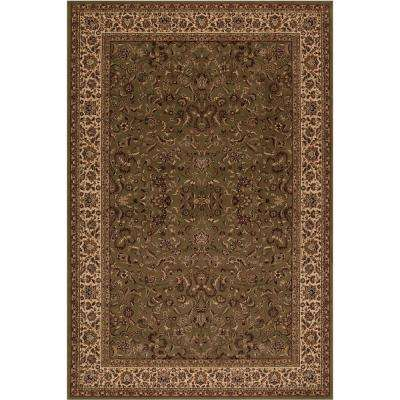 Persian Clics Kashan Green 7 Ft X 10 Area Rug