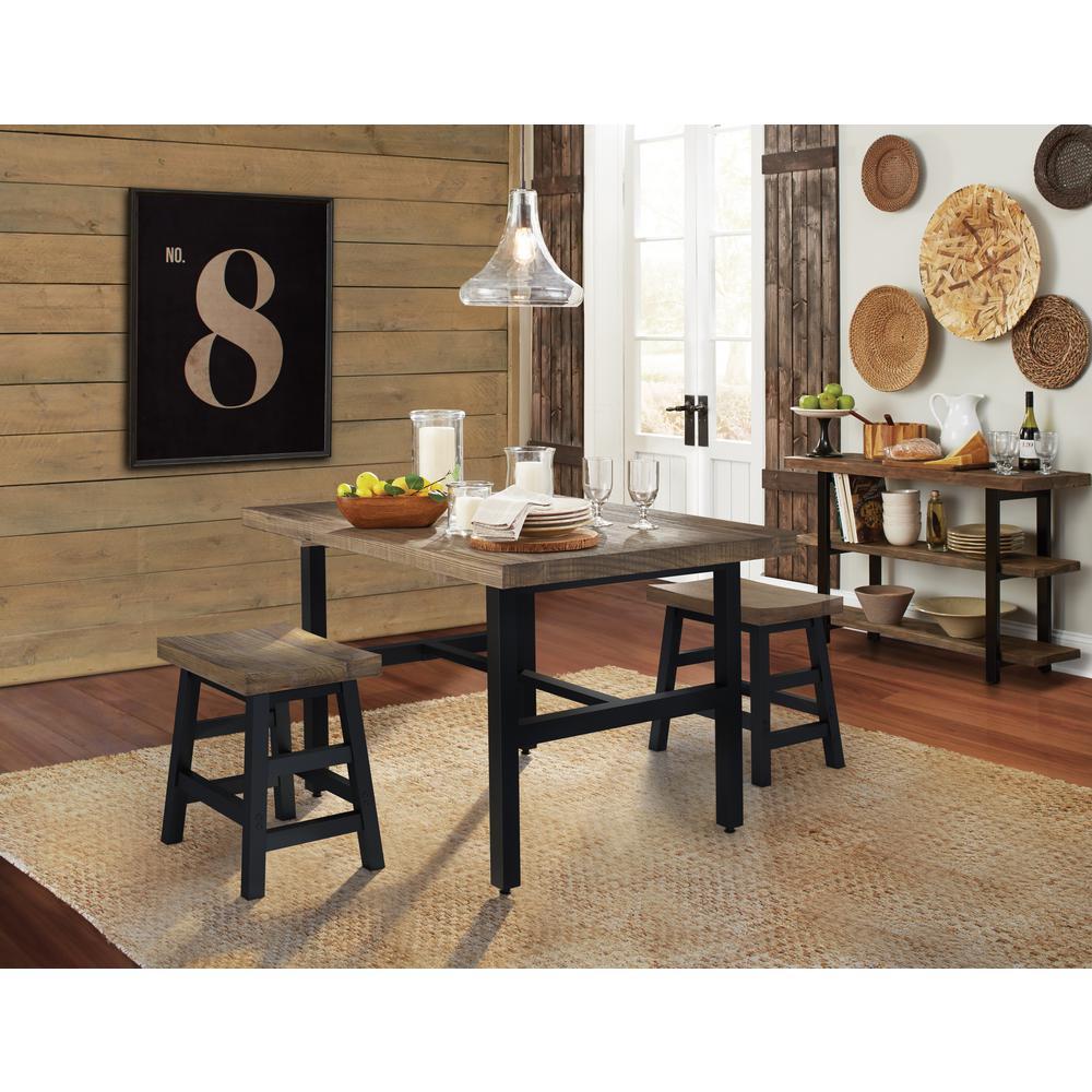 Alaterre Furniture Pomona 20 in. H Brown Reclaimed Wood Bar ...