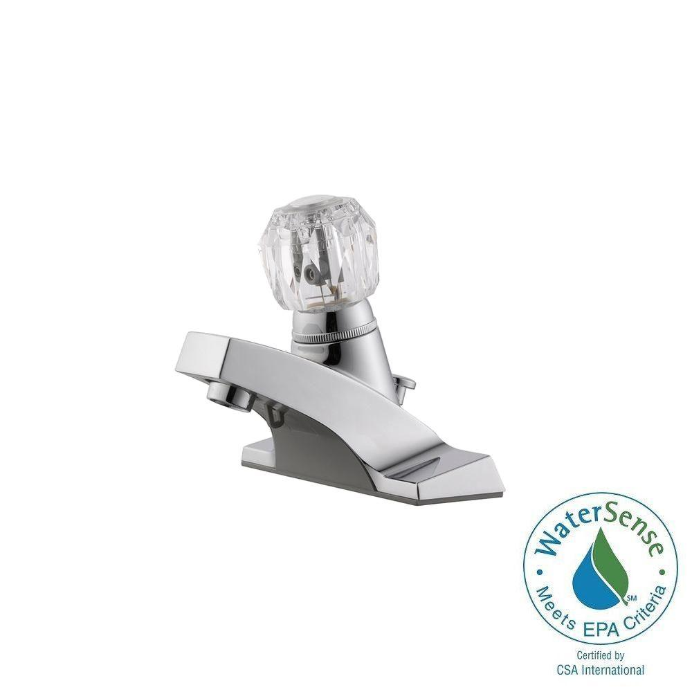 Millbridge 4 in. Centerset 1-Handle Bathroom Faucet in Polished Chrome