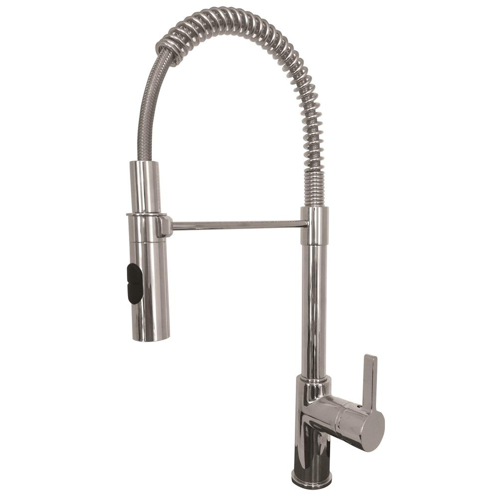kitchen faucet installation kraus single handle pull kitchen faucet in chrome kpf 13144