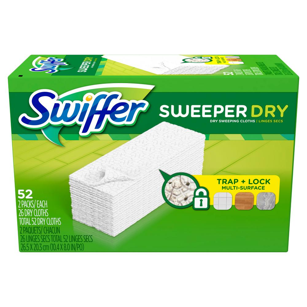 Sweeper Unscented Dry Cloth Multi-Surface Refills for Duster Floor Mop