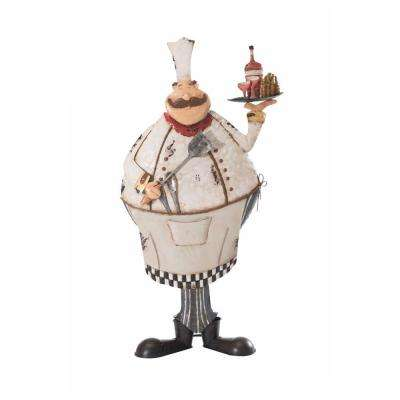 Friendly Pastry Chef Garden Statue