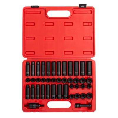 3/8 in. Drive Master Impact Socket Set (42-Piece)