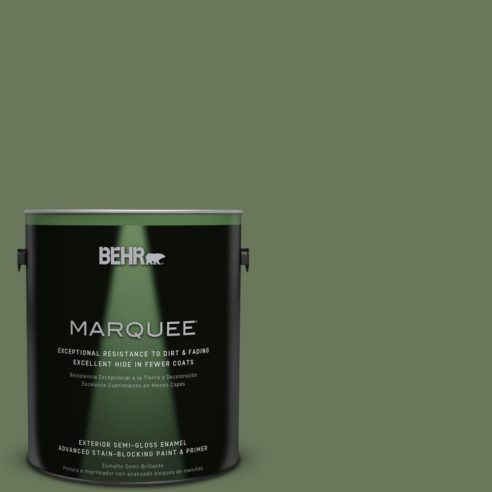 BEHR MARQUEE 1-gal. #PPU10-1 Scallion Semi-Gloss Enamel Exterior Paint