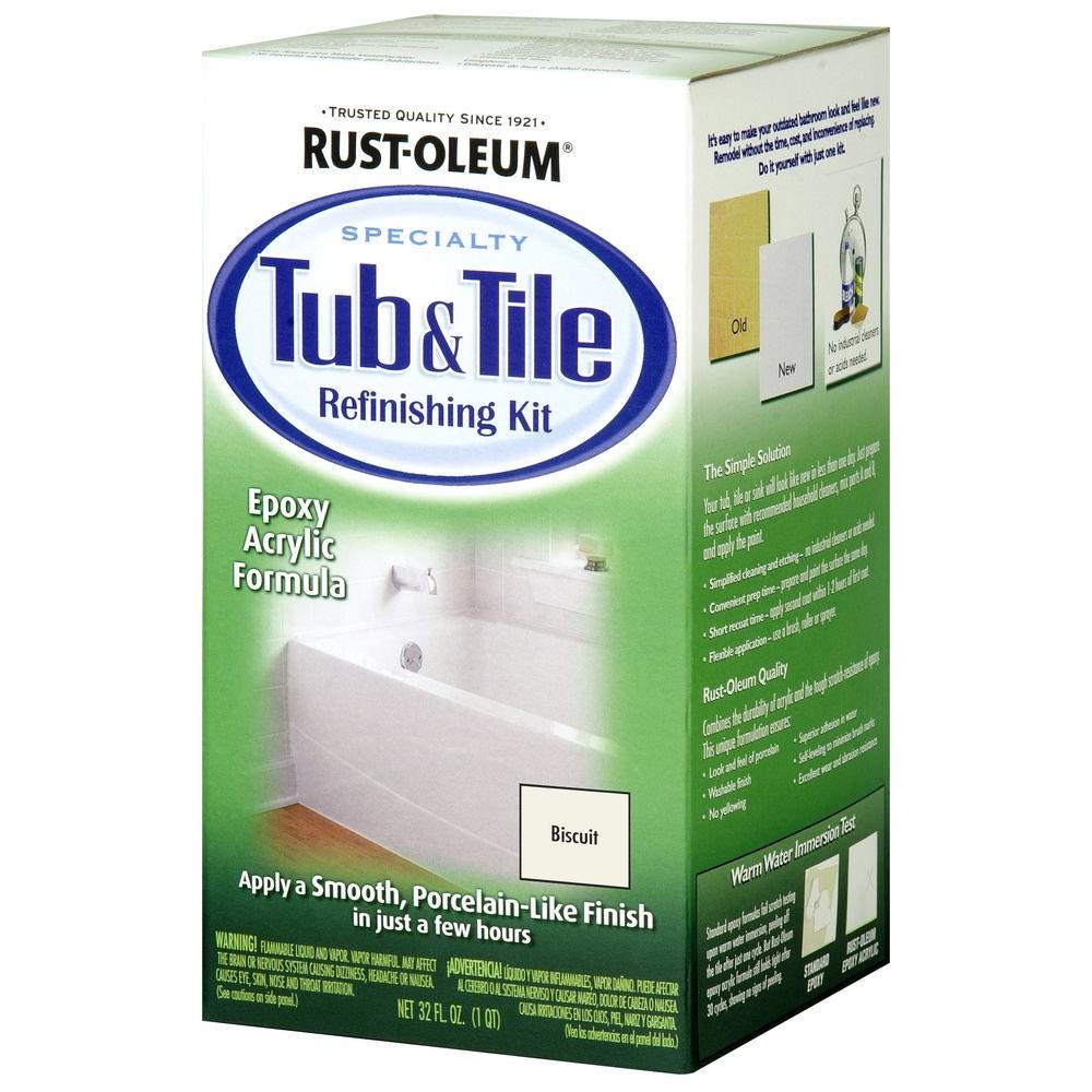 Rust-Oleum Specialty 1 qt. Biscuit Tub and Tile Refinishing Kit ...