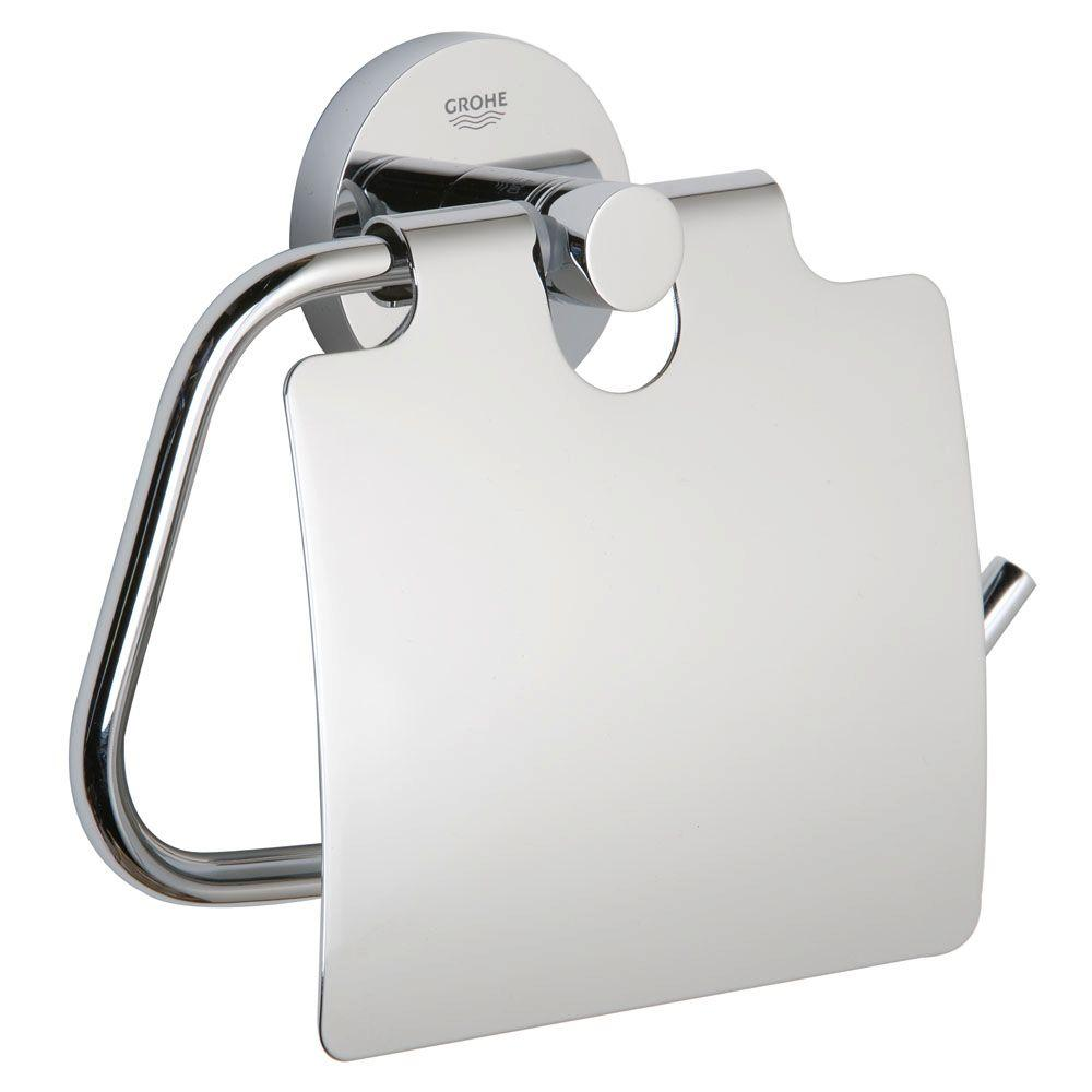 GROHE Essentials Single Post Toilet Paper Holder In StarLight Chrome