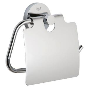 GROHE Essentials Single Post Toilet Paper Holder in StarLight Chrome by GROHE