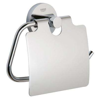 Essentials Single Post Toilet Paper Holder in StarLight Chrome