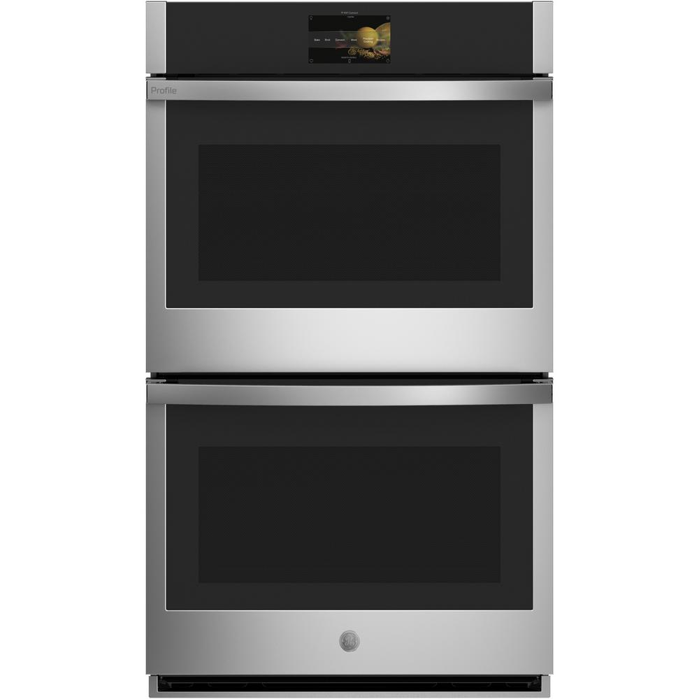 GE Profile 30 in. Smart Double Electric Wall Oven with Convection Self-Cleaning in Stainless Steel
