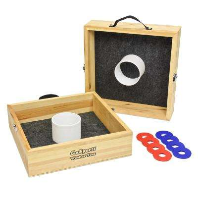 Premium Birch Wood Washer Toss Game
