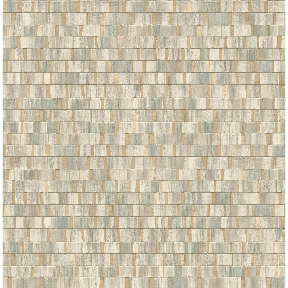 A-Street 8 in. x 10 in. Dobby Gold Geometric Wallpaper Sample