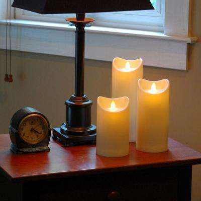 9 in. H Amber LED Action Resin Candle