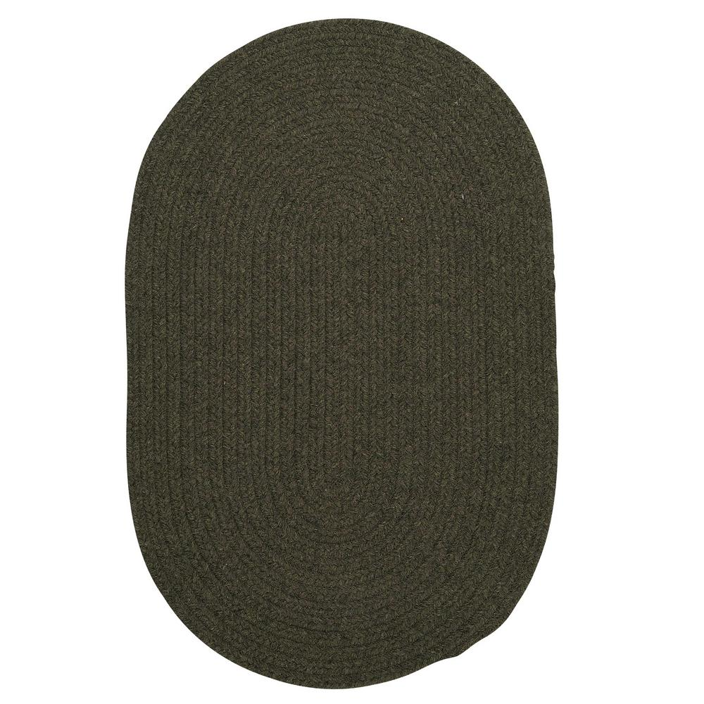Home Decorators Collection Edward Olive 8 ft. x 8 ft. Round Braided Area Rug