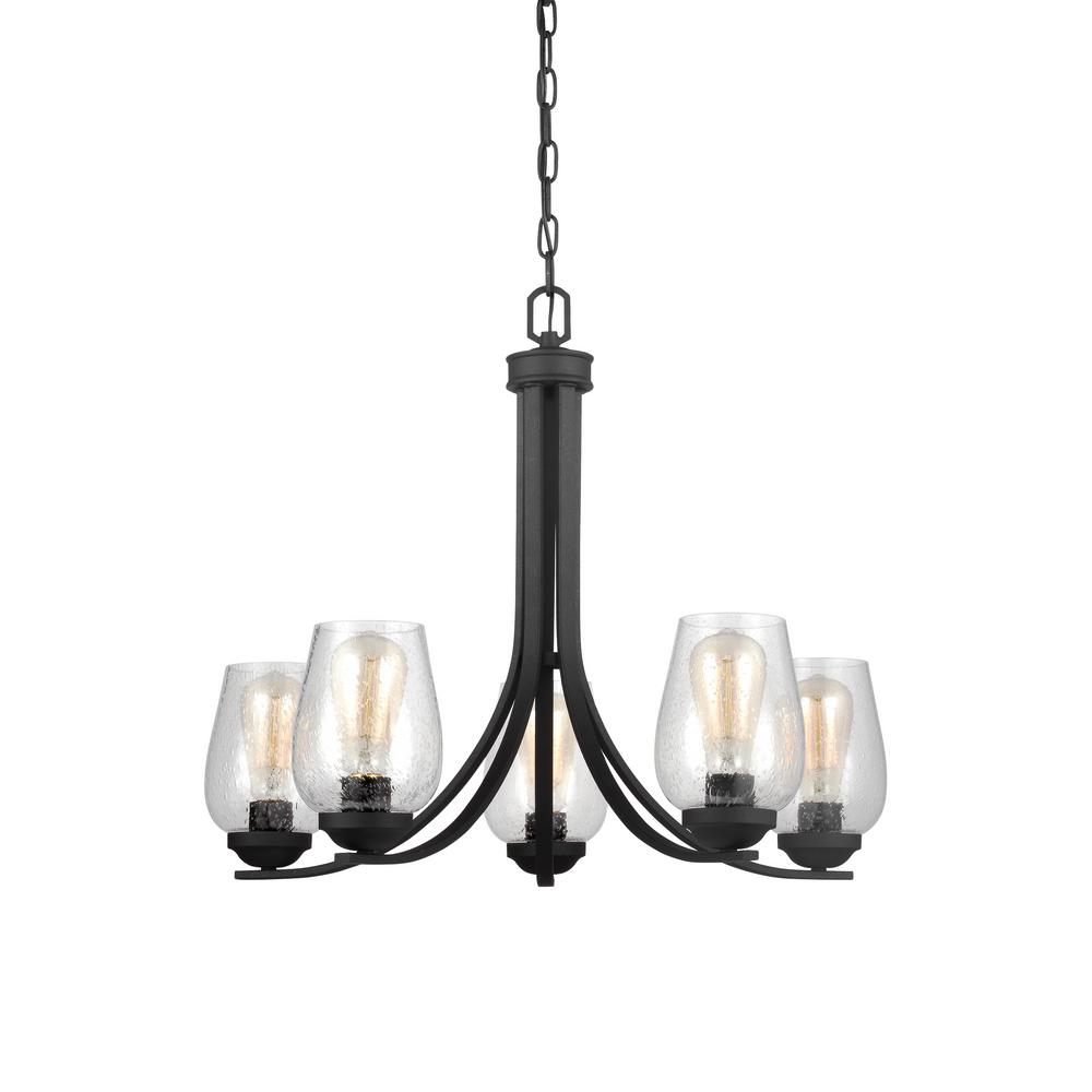Sea Gull Lighting Morill 5 Light Blacksmith Chandelier 3127805 839 The Home Depot