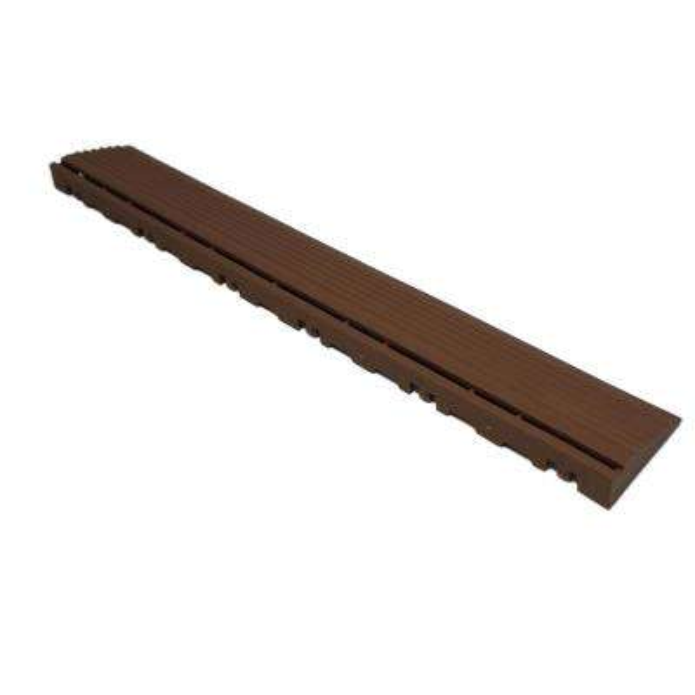 15.75 in. Walnut Brown Pegged Edging for 15.75 in. Swisstrax Modular Tile Flooring (2-Pack)