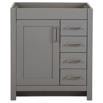 Westcourt 30 in. W x 21 in. D Bathroom Vanity Cabinet Only in Sterling Gray