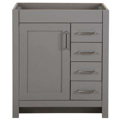 Awesome Westcourt 30 In W X 21 69 In D X 34 25 In H Bath Vanity Cabinet Only In Sterling Gray Download Free Architecture Designs Boapuretrmadebymaigaardcom