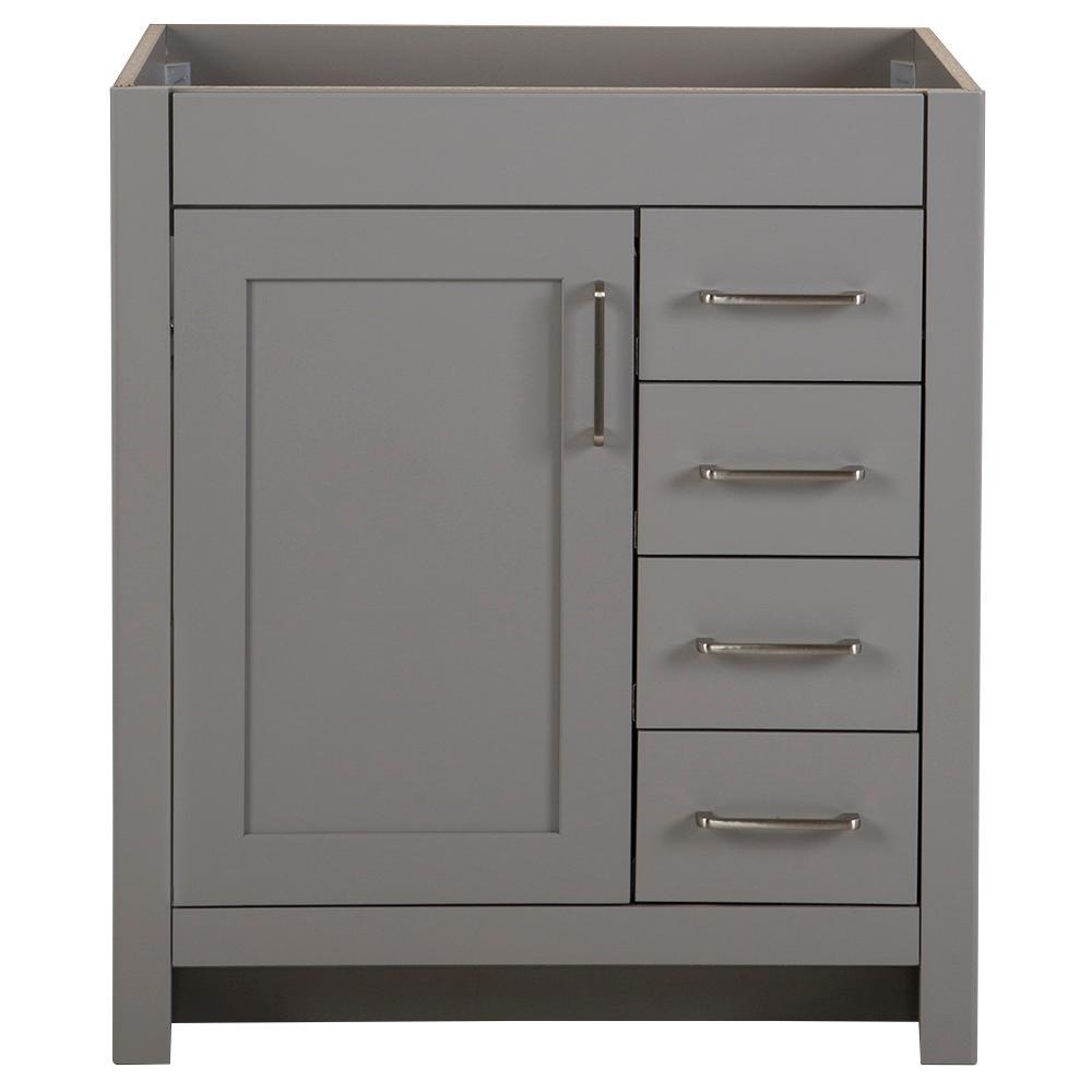 Westcourt 30 in. W x 21.69 in. D x 34.25 in. H Bath Vanity Cabinet Only in Sterling Gray