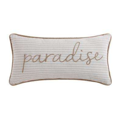 Tropical Plantation Woven Stripe Decorative Pillow