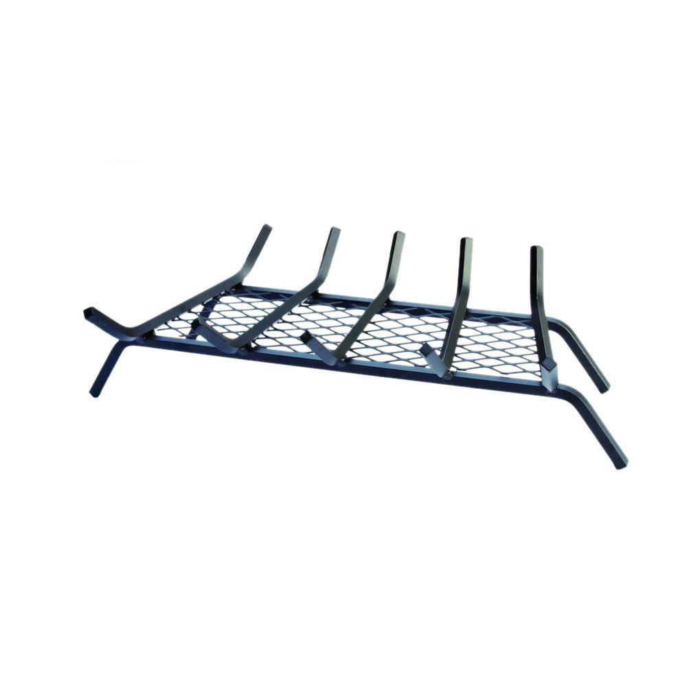 27 in steel bar fireplace grate with ember retainer h66b the