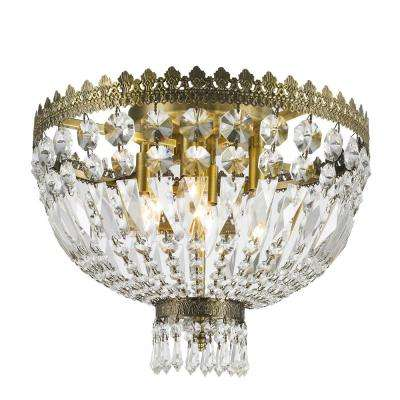 Metropolitan Collection 4-Light Antique Bronze Ceiling Light with Clear Crystal