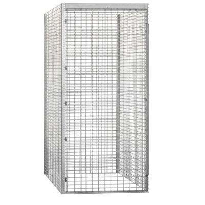 8100 Series 48 in. W x 90 in. H x 60 in. D 1-Tier Bulk Storage Locker Starter in Aluminum